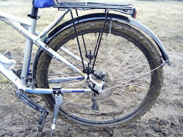 Крепление крыла на велосипед своими руками 3